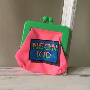 2for $30 🔥Vintage 80's relic Neon coin purse!